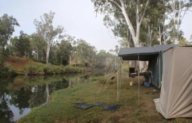 Camped on the Millstream River